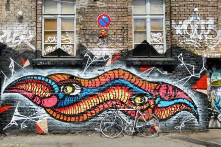 Fassade mit Graffiti