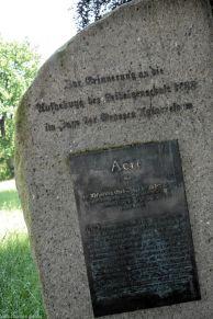Gedenkstein Aufhebung der Leibeigenschaft 1788