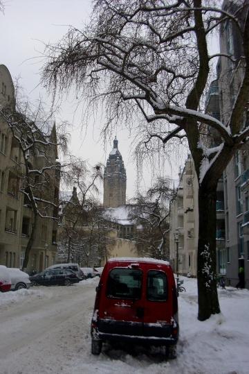 Blick zum Rathaus Charlottenburg