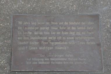 """Tafel - """"Lauenburger Rufer"""""""