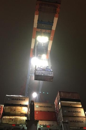 Container-Terminal i.d. Nacht 0